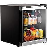 Mini frigoriferi Mini Frigo da Camera Silenzioso,Frigo Ufficio,Congelatore nel Dormitorio Dell'hotel,Frigoriferi Desktop Domestici, Mini Bar Portatile (Color : Black, Size : 42L)