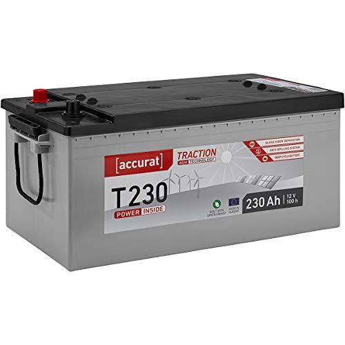 Accurat 12V 230Ah AGM Versorgungsbatterie für Solar Wohnwagen Boot Zyklenfest in 6 Varianten