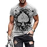 Unisex Adulto 3D Impresión Digital Impresión de la Cara Camiseta de Manga Corta Tops Blusa, Camiseta de los Hombres de Verano Pintura Abstracta Top Camiseta de la Moda de la Calle de la Manga Corta