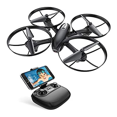 Potensic U47 Camera Drone, FPV RC Quadcoper with 720P HD Camera Live Video, Altitude Hold, Headless Mode, One Key Return and Speed Adjustment