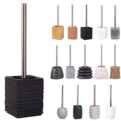 WC Bürste, viele schöne WC-Bürsten zur Auswahl, hochwertige Qualität, elegantes Design (Calero Black)