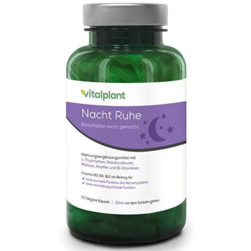 Natürliche Alternative zu Schlaftabletten ohne Melatonin und Baldrian | mit L-Tryptophan anstatt 5 HTP | mit Passionsblume (Gaba) und Zitronenmelisse | besser als Johanniskraut, Neurexan, Hoggar Night