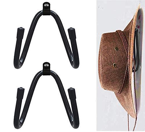 AUXPhome Universal - Metal Rack - Adjustable to Your Size/Cowboy Hat Rack Hat Holder Hat Organizer Hat Wall Mount Cowboy Hat Rack Cowboy Hat Holder Coyboy Hat Organizer - Pack 2