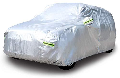 AmazonBasics – Wetterfeste Auto-Abdeckung, silberfarben, 150-D-Oxford, SUVs bis 470cm