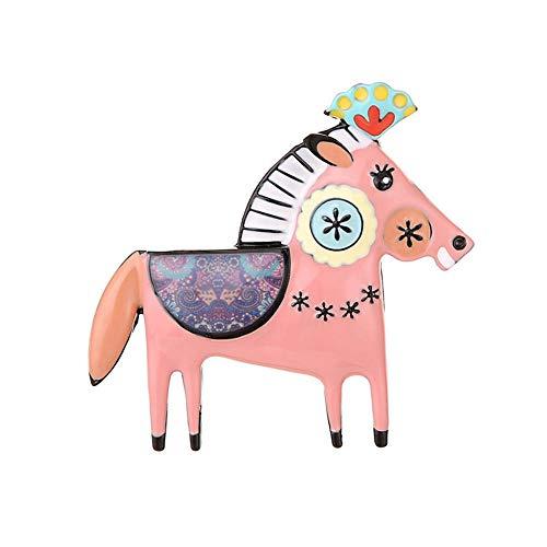 Naald voor meisjes van metaallegering, animato paard roze sieraden dieren accessoires voor dames