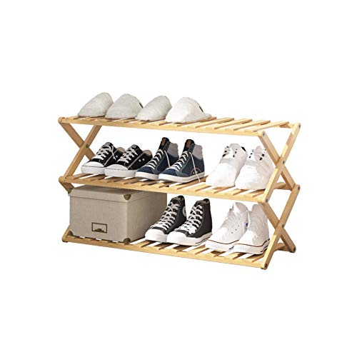 Puroma 16-Cube Stackable Shoe Organizer Plastic Shoe Storage Rack Durable Modular Shoe Cabinet, Space Saving for Closet Hallway Bedroom Entryway (White Translucent)