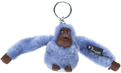 Kipling Monkeyclip M(10) - Portachiavi ad anello e catena Donna, Blu (Timid Blue), 4.5x5x7 cm (B x H T)
