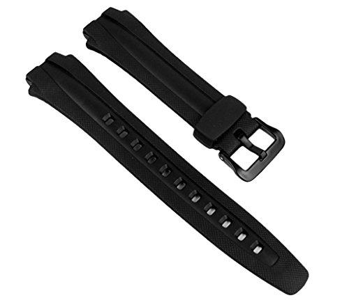 Casio 160W - Cinturino per orologio, uomo, resina, colore: nero