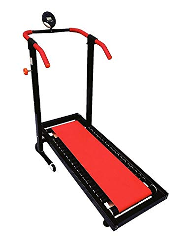Monex Manual Jogger Treadmill| Roller Jogging Machine for Home| Foldable Tread Mill| Multi-Function Walking and Jogging Gym Running Exercise Machines| Deluxe Treadmill| Lifeline Cardio Exercise