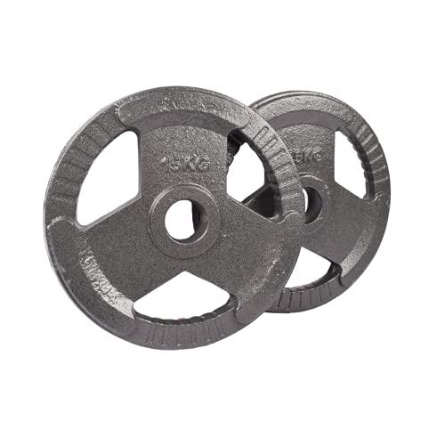 "Exersci Cast Iron 2"" Tri Grip Weight Plates (Pair) 1.25kg - 20kg (15)"