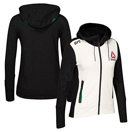 adidas Reebok Official UFC Fight Kit (White/Black/Green) Walkout Hoodie Women's