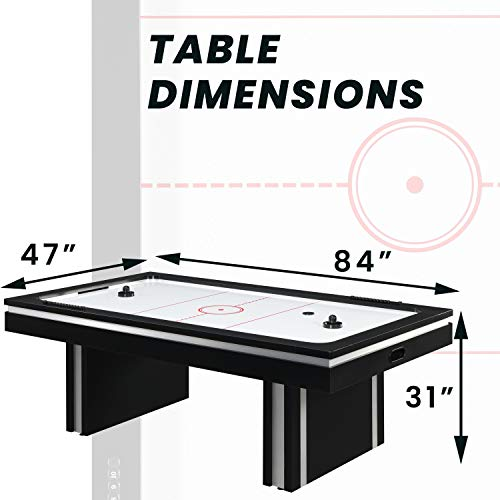 Hanover 2 Player Electric Air Hockey Table, Black