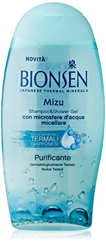 Bionsen, Docciashampoo Mizu Pureness, Purificante, Idratante, con Oligominerali Giapponesi, con Acqua Micellare, Senza Parabeni, Flacone da 250 ml