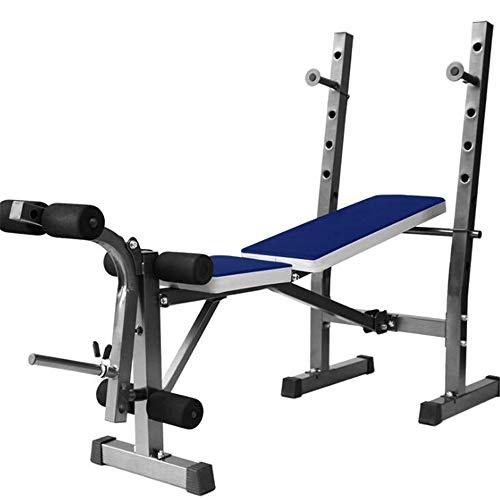 WXH Banc de Musculation Olympique Multifonctions réglable, entraînement de Musculation et de Musculation et Support accroupi, Double Rabattable Pliable et Assis