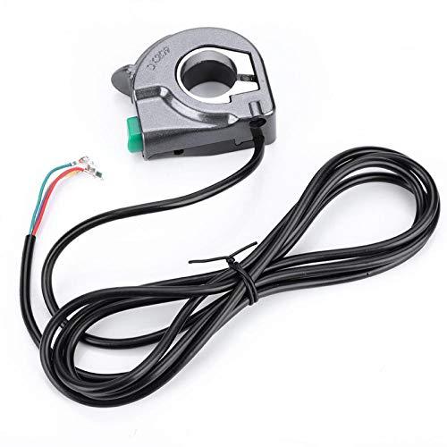 minifinker Interruptor de bocina de Scooter eléctrico de fácil instalación a Prueba de Lluvia Resistente a Golpes para Scooter