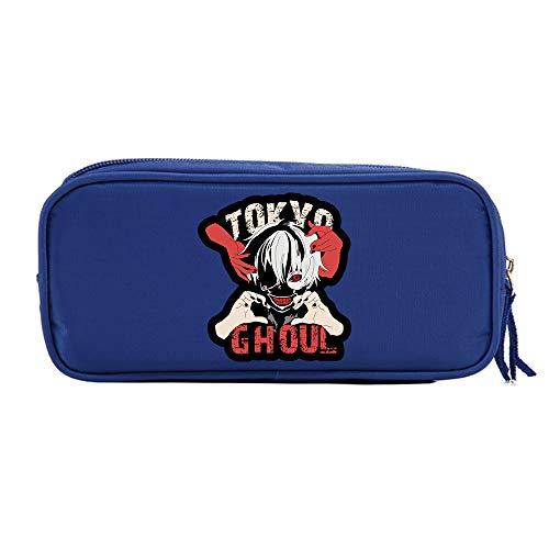 FOHKJMML Tokyo Ghoul Pencil Cases Trendy Design Pencil Bag Leisure Storage Bag Basic Pencil Cases (Color : Blue07, Size : 21 X 10 X 5.5cm)