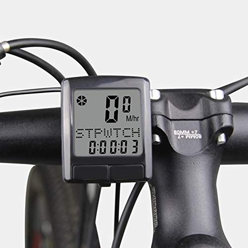 LZJDS Bicycle Computer, Multi-Function Waterproof Smart Bicycle Speedometer with High-Definition LCD Display, for Bicycle Enthusiasts
