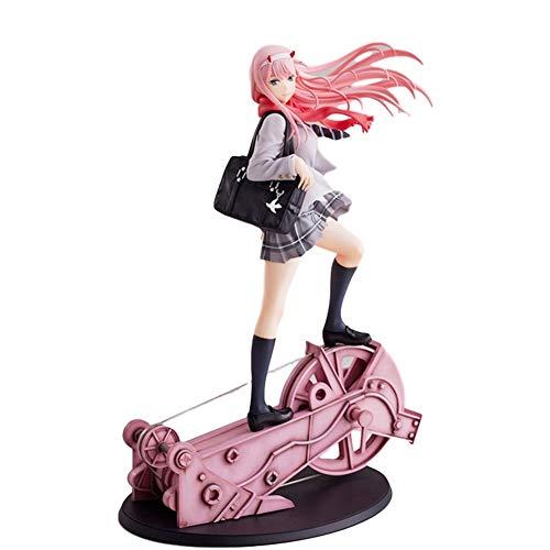 LHZHG Anime Juegos Modelo Animado Muneca Adornos Zero Two CÓDIGO :002 Darling in The FRANXX Anime Figura 28cm-Estatuilla Decoracion Adornos Coleccionables Juguete Animaciones Modelo de Personaje