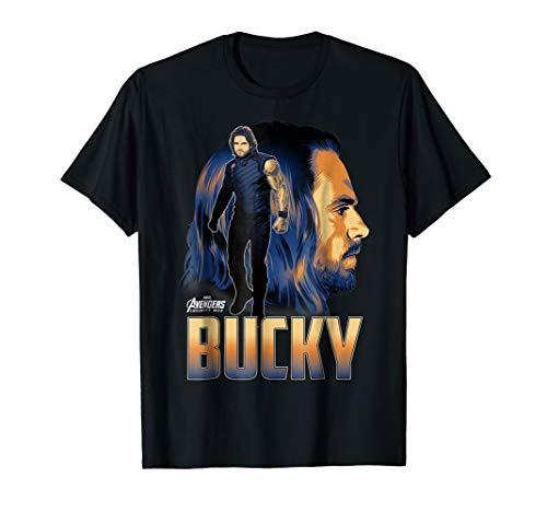 Marvel Infinity War Bucky Big Head Profile Graphic T-Shirt
