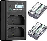 Powerextra Batteria di Sostituzione per Nikon EN-EL3E Batteria Compatibile 2200mAh 7.4V e Doppio Caricatore a Display LCD per Nikon e D30 D50 D70 D70S D80 D90 D100 D200 D300 D300S D700