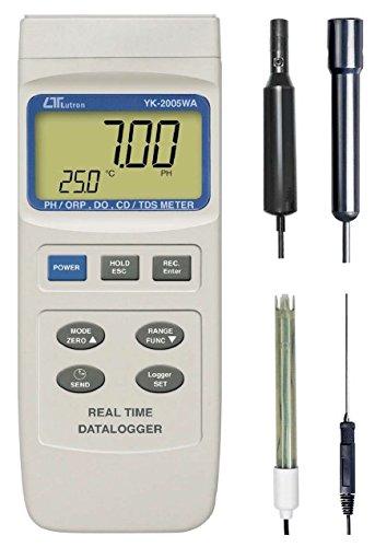 Multimessgerät Datalogger (Sauerstoff, PH, ORP, O², Redox, TDS, EC, Leitwert) bis 200mS SA3