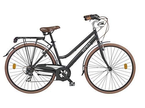 Cicli Gloria, City Biker Donna Women's, Nero, L