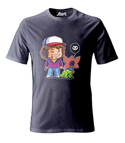 1/4 Mile Kult Clothing Unisex per Adulti Maglietta/T-Shirt Stranger Things Demogorgon Dustin & Dart (XL)