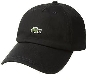 Lacoste Men's Embroidered Crocodile Cotton Cap, black, One Size
