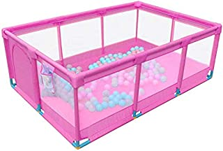 Playpens Pink Large Baby with Activity Panel Sides  Safety Play Center Yard Indoor Outdoor Boys Girls Portable Folded Fence
