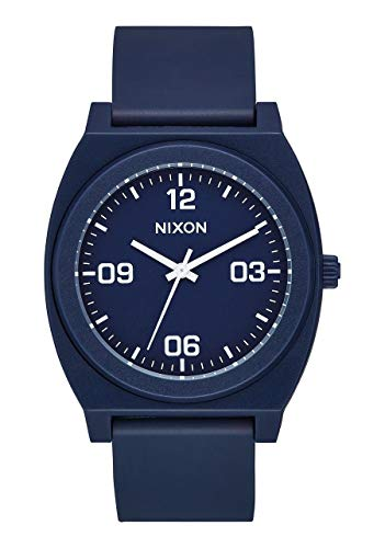 NIXON Time Teller P Corp A1248 - Matte Navy/White - 100m Water Resistant Men's Analog Fashion Watch (40mm Watch Face, 20mm Pu/Rubber/Silicone Band)