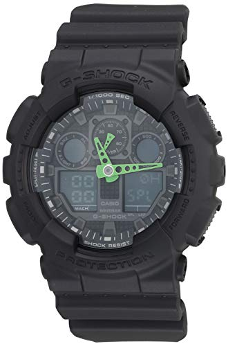 Casio Men's G-Shock Quartz Sport Watch with Resin Strap, Black, 29.4 (Model: GA-100C-1A3CR)