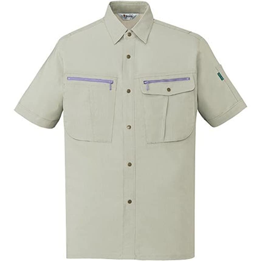 抽象トリクルみなさん自重堂 JICHODO 半袖シャツ 45914 アイボリー Lサイズ