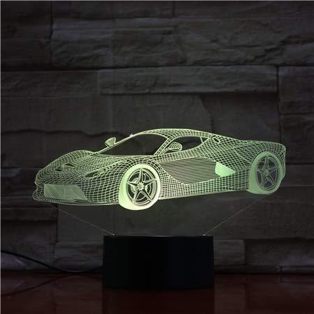 Control Remoto tactil luz Nocturna del Coche Placa de acrilico estereo Visual Mesa de Comedor decoracion Cambio de Color lampara de Dormitorio