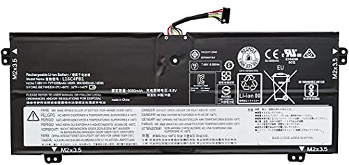 ASKC Batería para portátil Lenovo Yoga 720-13IKB 730-13IKB 730-13IKB 730-13IWL Series Notebook L16L4PB1 L16M4PB1 5B10M52738 5B10M52739 5B10M52740 740 7.68 7.68 7.68 7.68 7.68 V 48 Wh, 6 W. 268 mAh.