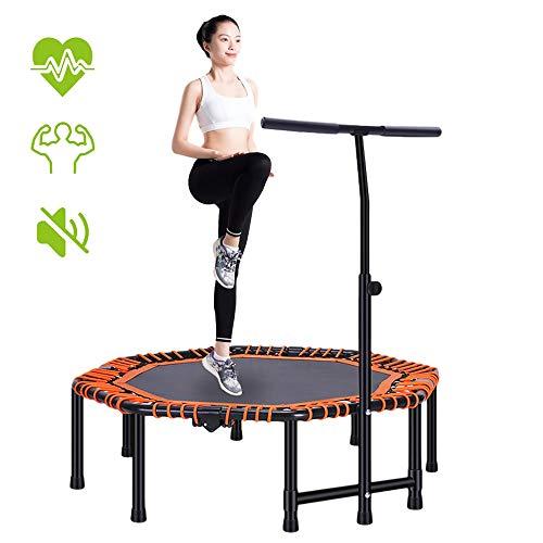 ZLMI - Mini trampolín para adultos, mini trampolín para interiores de fitness, trampolín para ejercicio, diseño plegable, no ocupa espacio, mute primavera silencioso y sin ruido