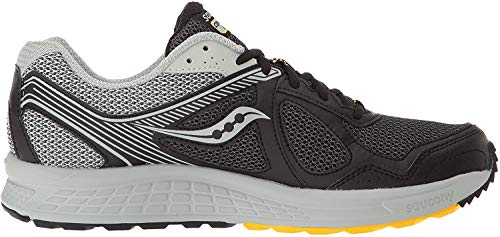 Saucony Men's Cohesion TR10 Trail Runner, Black/Grey/Yellow, 10 M US