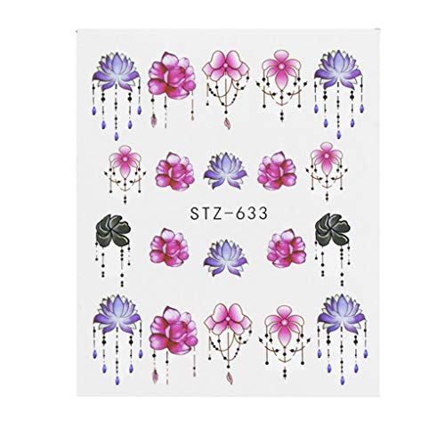 Pandiki 24 Sheets/Set Dream Catcher Nail Stickers Flower Tree Feather Nail Art Decals Manicure Nail Art Tips Decoration