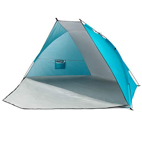 Yello 2.7m x 1.2m Zip Front Beach Sun Shelter Tent UPF 50+ Protection Windbreak