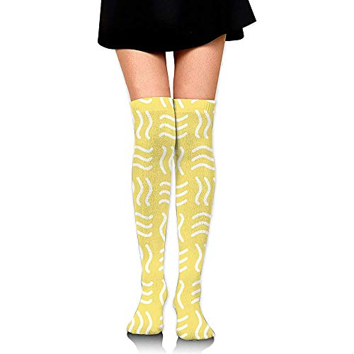 Kalf Sock Geel Blender Party Compressie Sokken Lange Sokken Boot Voorraad Jurk Vrouwen Comfortabele Cosplay Knie Hoge Sokken Casual Mode Hardlopen Kleurrijke Zacht