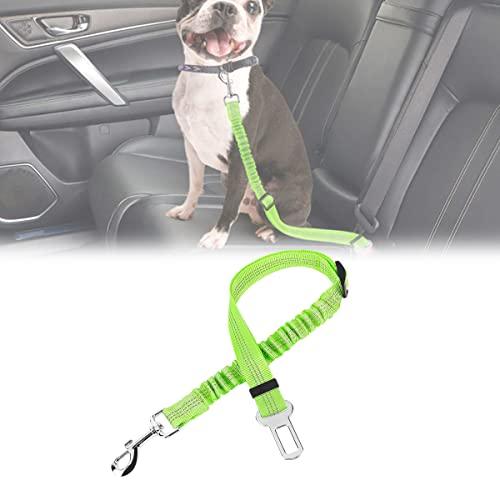 YCRD Cinturón Seguridad Perro, 2 Unidades Cinturón Perro Coche con elástico, Fuerte mosquetón, Ajustable Perros Correa Alta Seguridad para Todas Las Razas Perros y Gatos