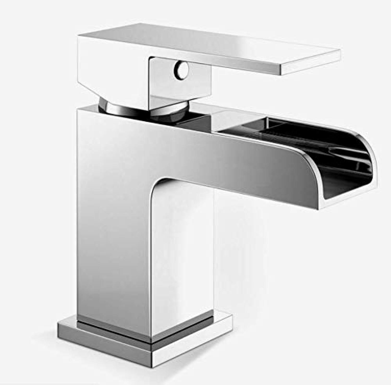 Washbasin Faucet Basin Faucet, Brass Chrome Hot and Cold Bathroom Basin Faucet