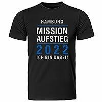 """★ T-Shirt """"Mission Aufstieg 2021"""" ★ Größen: S, M, L, XL, XXL, XXXL ★ Farben: schwarz ★ waschbar bei 40° C ★ Strapazierfähige Stoffqualität: 165g/m²"""