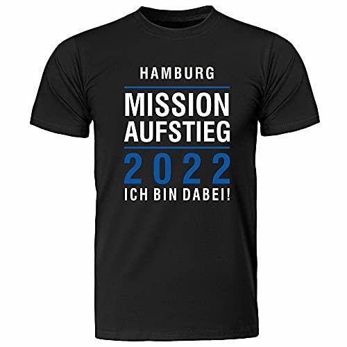 T-Shirt Hamburg | Mission Aufstieg 2021 | Ich Bin Dabei | Fanartikel - qualitativ hochwertig Bedruckt (S)