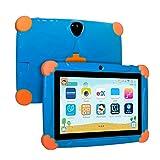Xgody Kinder-Tablet, 7 Zoll (17,8 cm), Kinder-Edition, Kindersicherung, für Internet-Cloud-Klasse, Android 8.1 GM, 16 GB, Quad Core, blaue kindersichere Hülle -