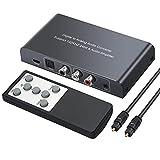 Neoteck DAC Convertidor Digital a Analógico Audio Conversor Coaxial Toslink a Analógico Estéreo L/R RCA con 3.5mm Jack Soporte de Volumen Silencio de Encendido o Apagado Mediante Control Remoto IR