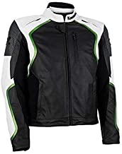 4Limit Sports blouson moto Adrenalin veste en cuir vert-noir