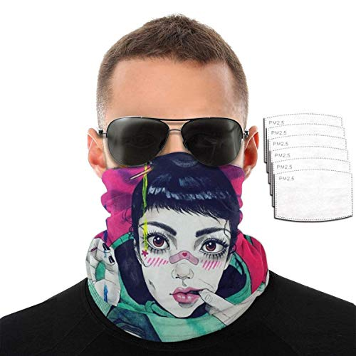 Quintion Cooper - Sciarpa per il viso, per ragazze e ragazzi, con fascia anti-sudore UPF 50+, passamontagna