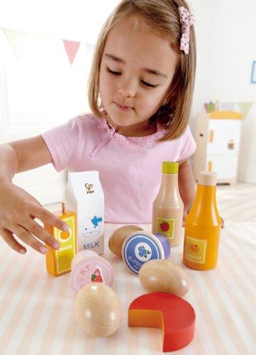 Hape Healthy Basics Kid's Wooden Play Kitchen Accessories Food Set Nevada