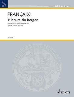 フランセ : 恋人たちの時間 パート譜 (木管五重奏、ピアノ) ショット出版