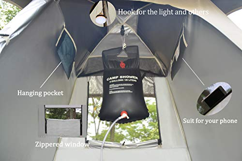 Vidalido Outdoor Shower Tent Changing Room Privacy Portable Camping Shelters